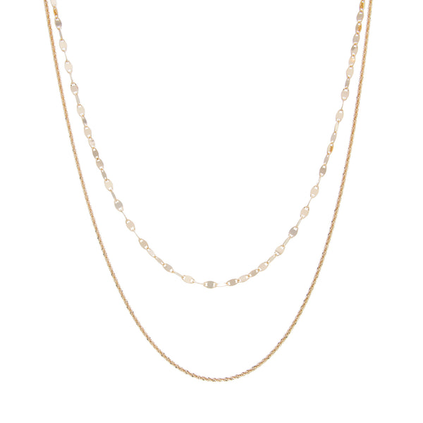 "12"" Mirror Link Double Strand Choker with 5"" Extension"