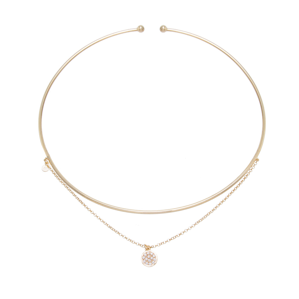 Disc Chain Drop Choker