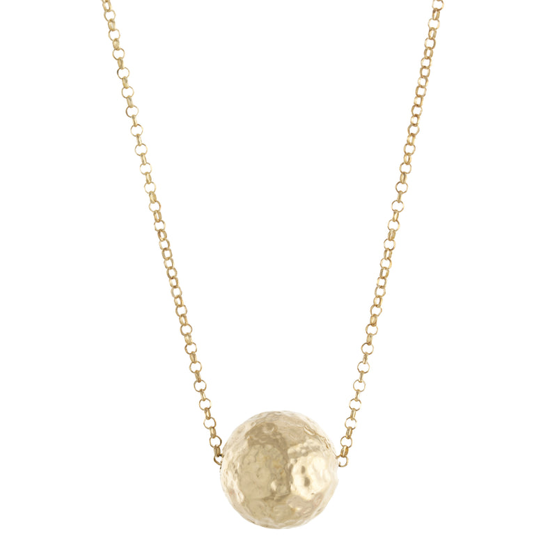 Hammered Ball Necklace