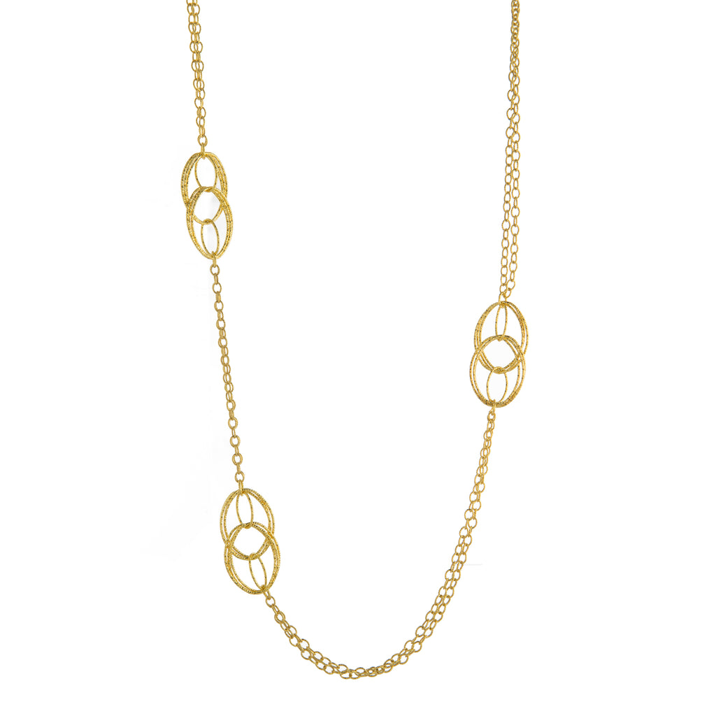 "24"" Textured Oval Link Necklace"