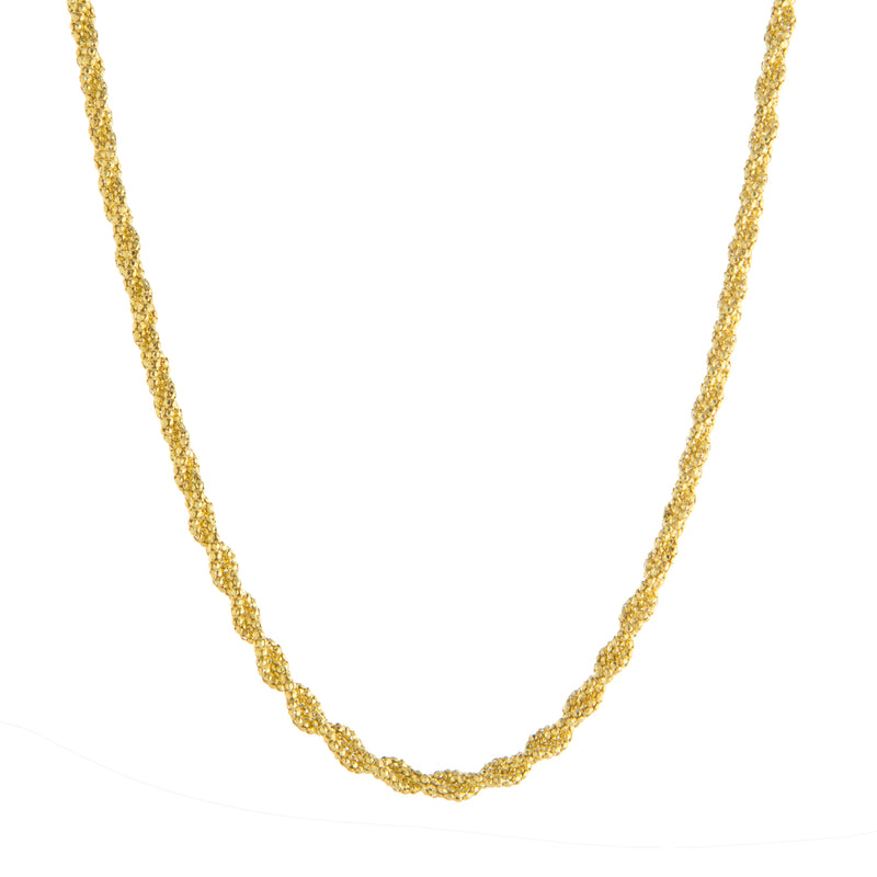 "16+2"" Fancy Braided Popcorn Necklace"