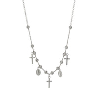 "16+2"" Beaded Religious Cross Necklace"