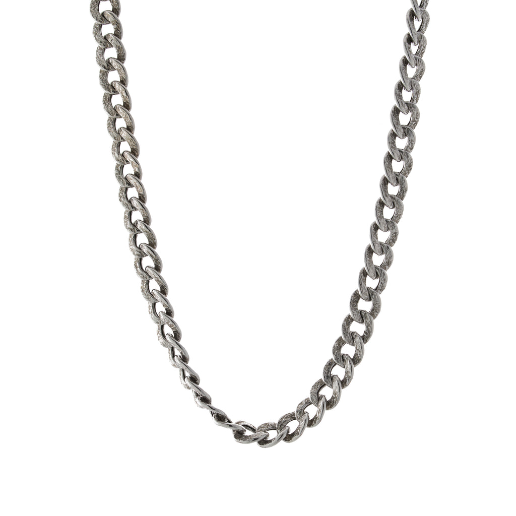 "16"" Textured Link Toggle Necklace"