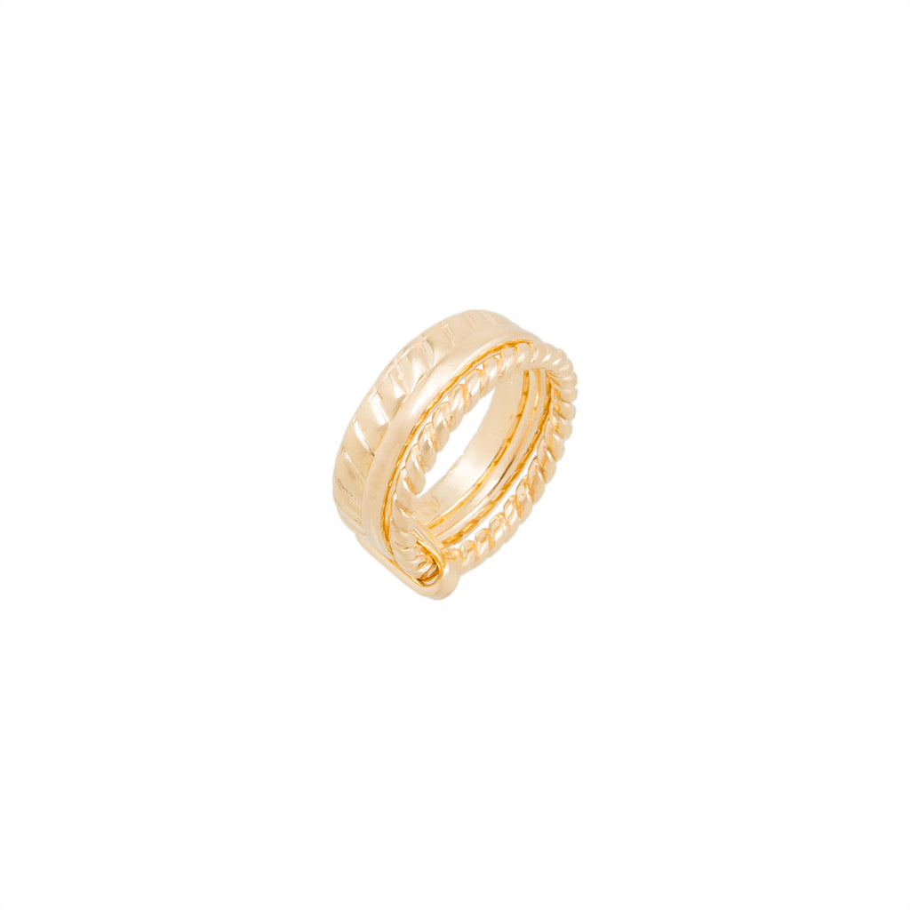 Textured Multi Band Ring