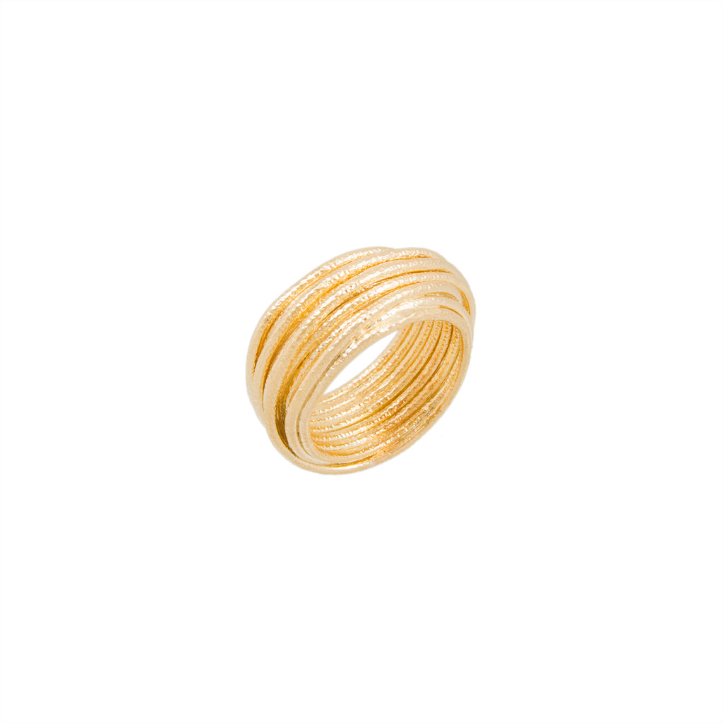 Multi Row Textured Band Ring