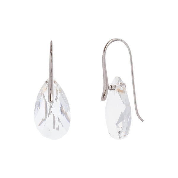 Faceted Clear Swarovski® Crystal Pear Drop Earring