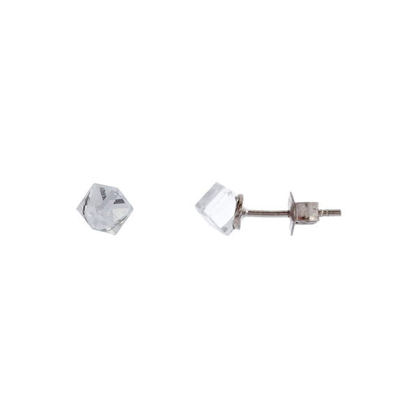 Faceted Clear Swarovski® Crystal Cube Stud
