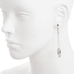 Faceted Clear Swarovski® Crystal Open Oval Chain Drop Earring