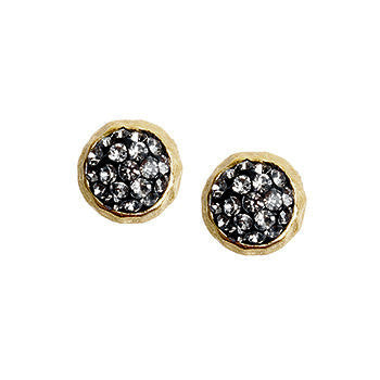 Black Diamond Crystal Stud Earring