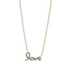 "Black Diamond Crystal ""LOVE"" Necklace"