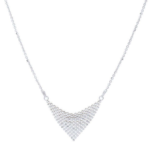 Clear Swarovski® Crystal Mesh Small Triangle Necklace