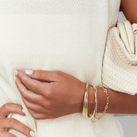 Gold Triple Row Cuff