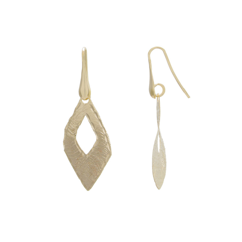 Open Marquise Diamond Cut Drop Earring