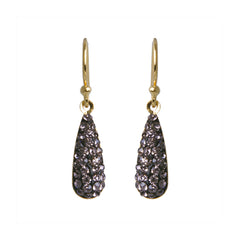 Black Diamond Crystal Teardrop Earring