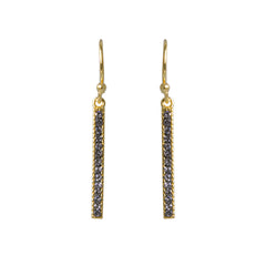 Black Diamond Crystal Bar Drop Earring