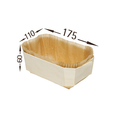 Backform Holz 3er Set - mit Silikonpapier zum Backen