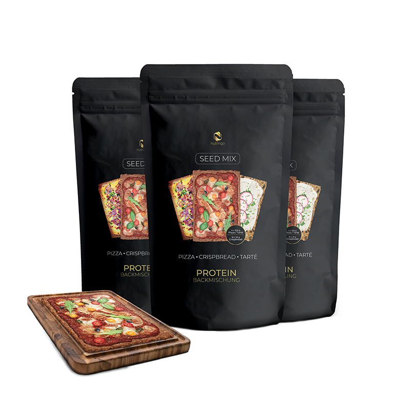 Seed Mix Protein Pizza Tarté Knäckebrot  - 3x200 g.