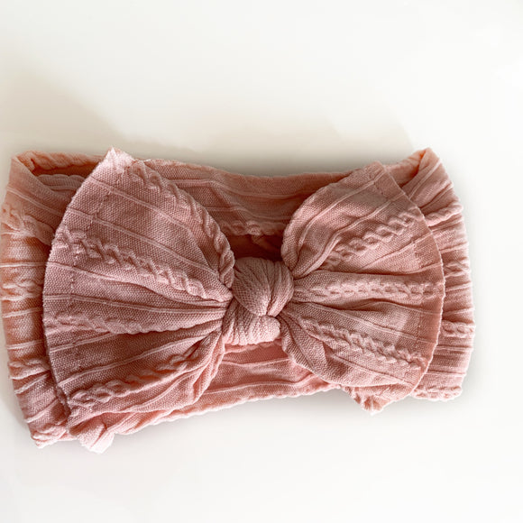 The Classic Blush knit Knot Bow