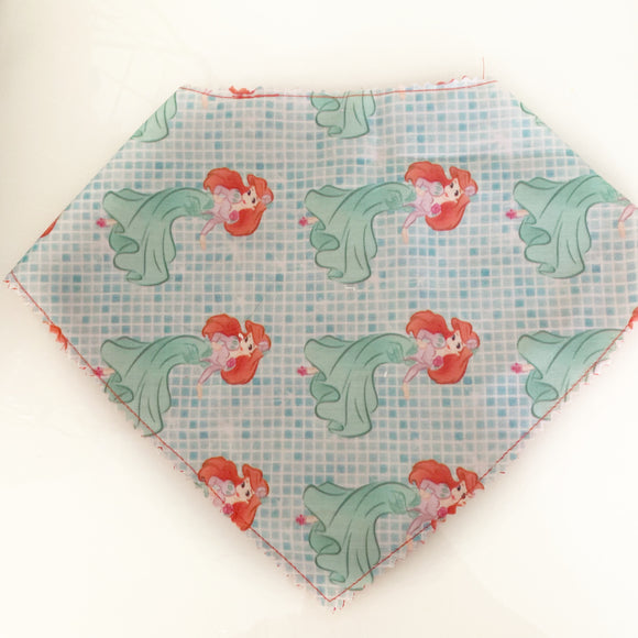 Mermaid inspired drool Bib