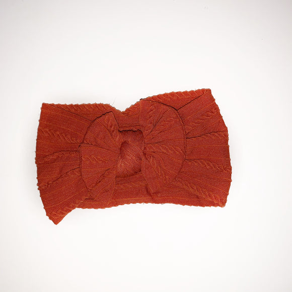 The Classic Burnt Orange knit Knot Bow