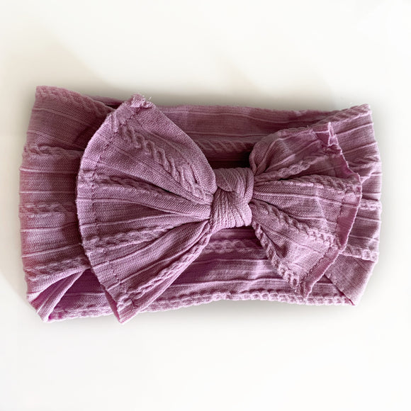 The Classic Fall Lavender Knit Knot Bow