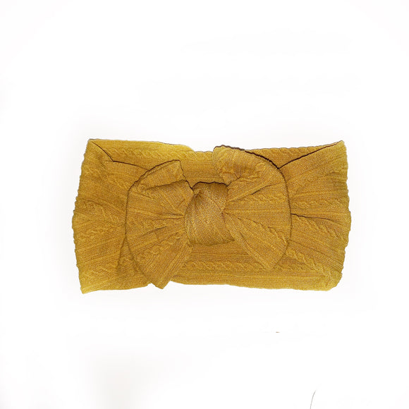 The Classic Mustard knit Knot Bow