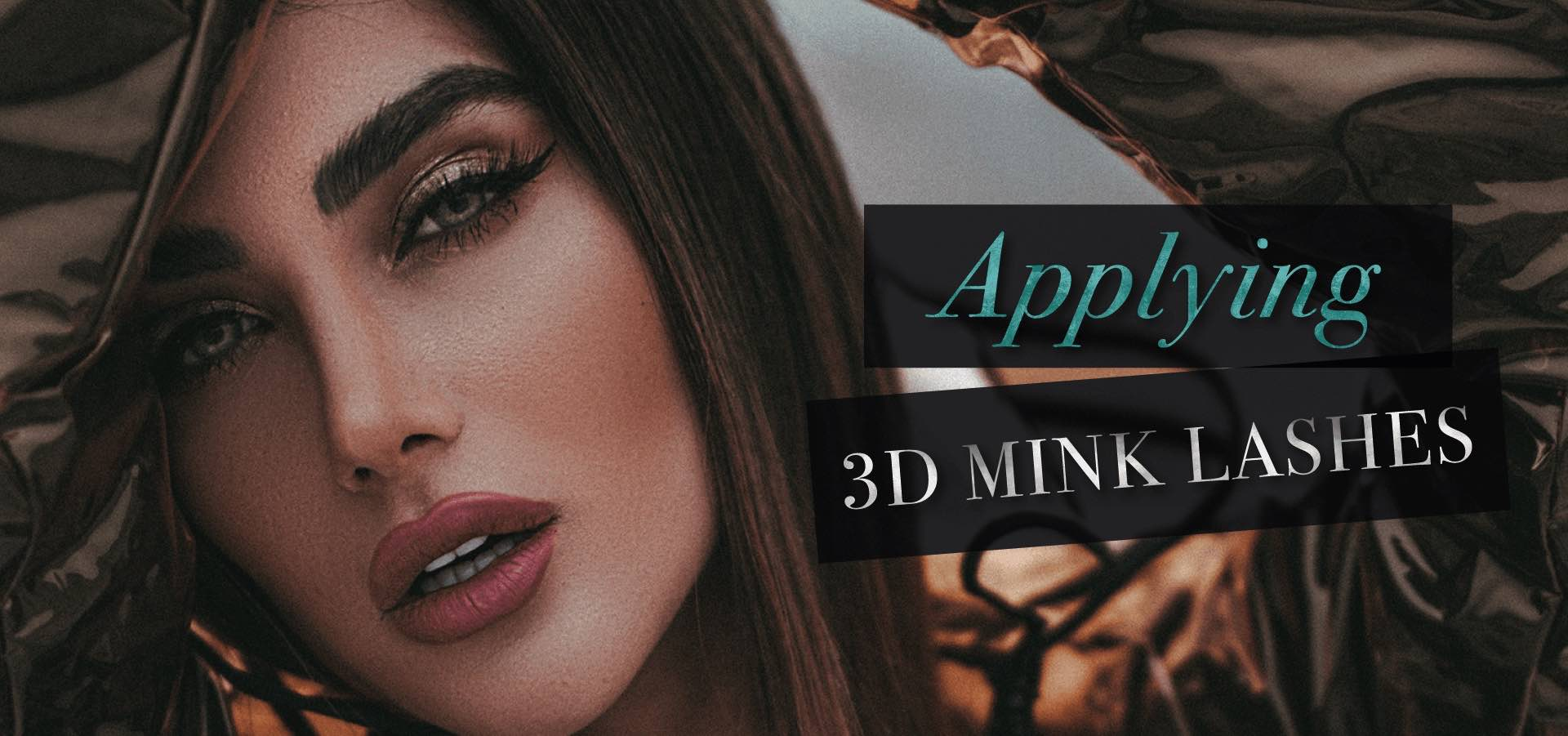 How to apply 3d mink lashes