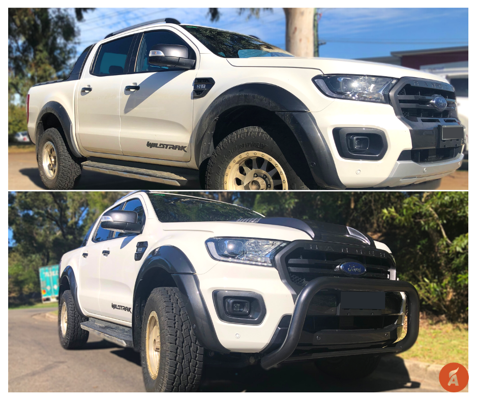 Ford-Ranger-PX3-Bonnet-Nudge-Bar-Front-Lower-Bar-Section-Custom-Painted-Before-After-AutoFlare