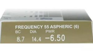 CooperVision Frequency 55 Aspheric - 6 lenses