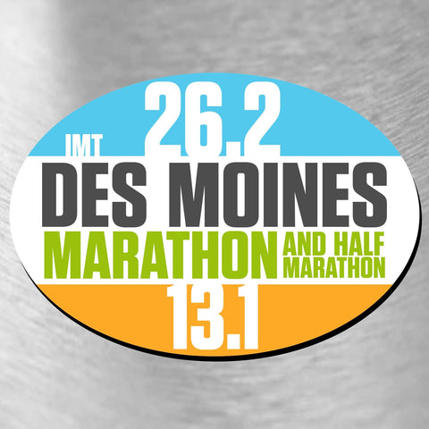 Magnet -Blue/White/Orange 'Oval Design' - Des Moines Marathon