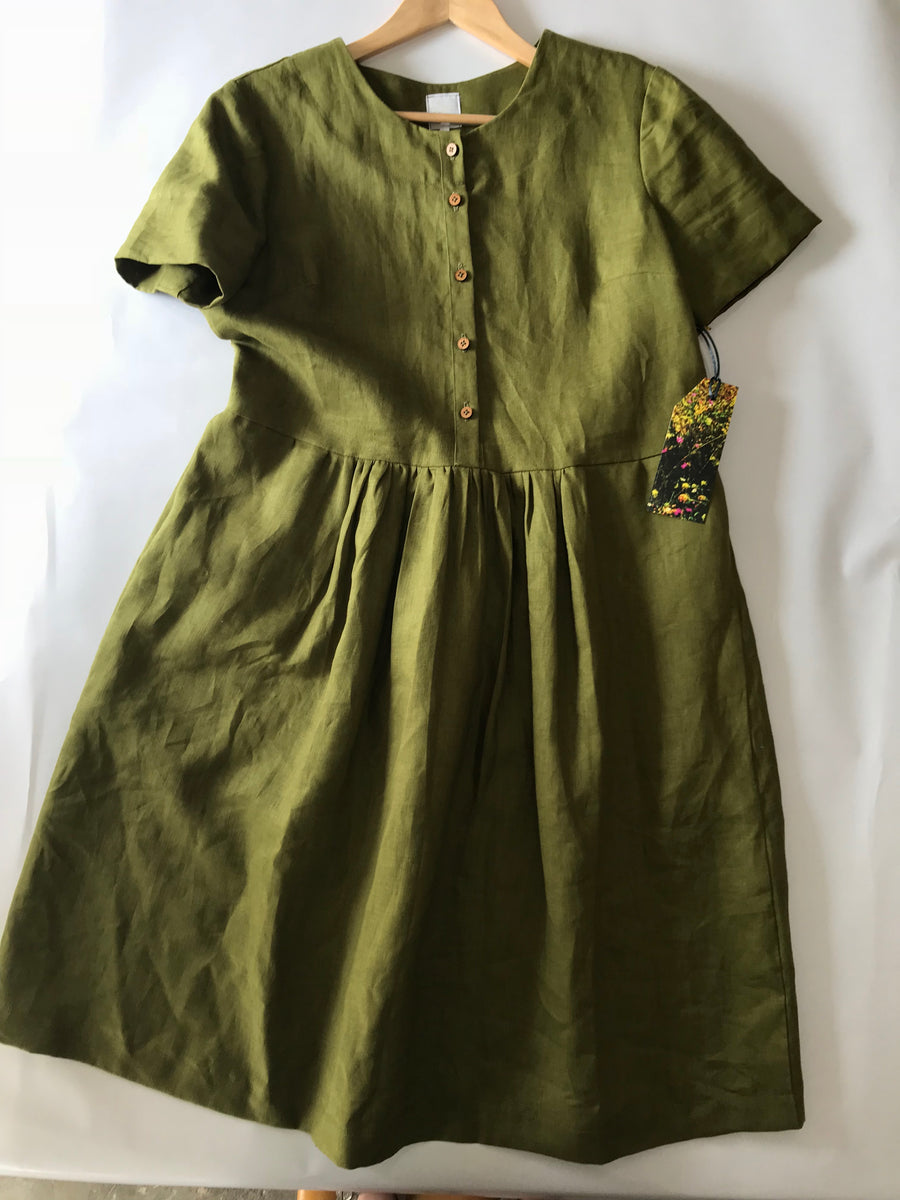 Buttons + Gathers Dress