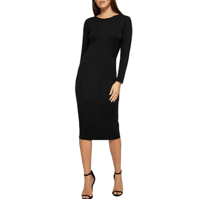 Crew Neck Cotton Pencil Dress
