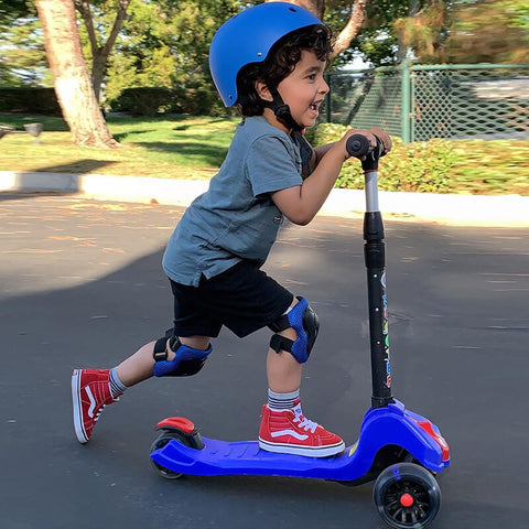 3-Wheel  Kids Kick Scooter With Flashing Wheels | XJD BABY
