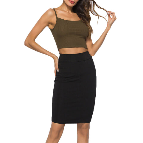 Women Stretch Bodycon Office Skirt
