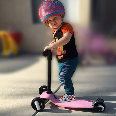 Folding Scooter With Flashing Wheels For Kids | XJD BABY