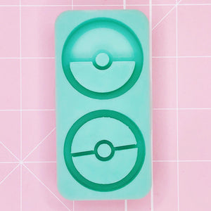 Duo Mold - Pokeball Duo (Backed Grippies) - Chala Atelier & Supplies