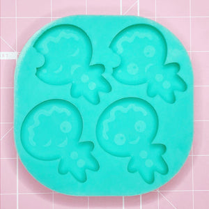 Palette Mold: Gingerbread Quad [Etched / Solid]