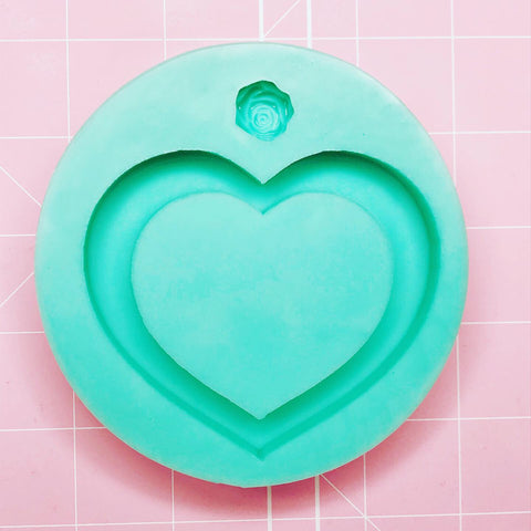 Medium Round Mold - Large Heart Shaker - Chala Atelier & Supplies