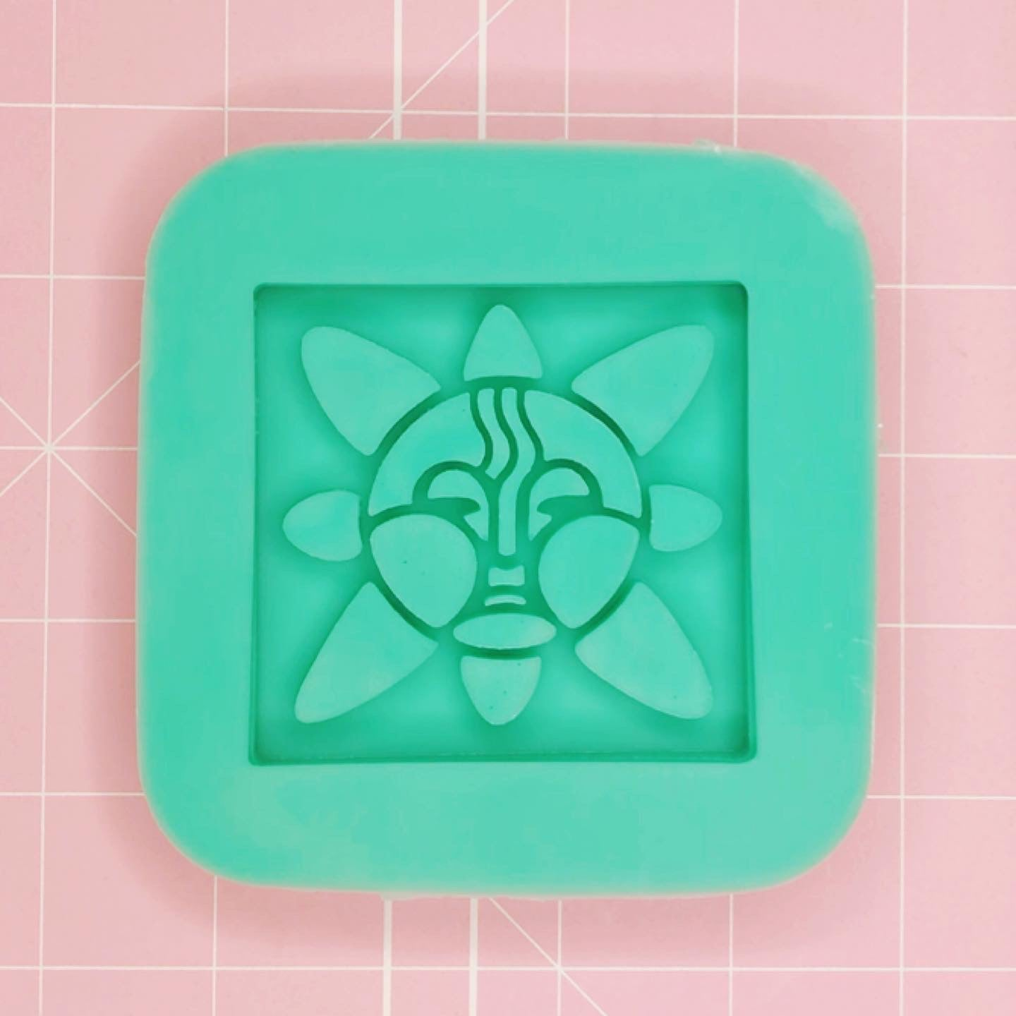 Square Tribal/Pagan Mold - Sun (Backed Shaker) - Chala Atelier & Supplies
