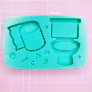 Large Mold - Momo's Toilet Humor (Backed Shaker) - Chala Atelier & Supplies
