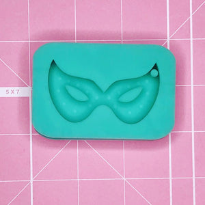Single Cavity Mold: Mask Keychain / Pendant [Solid]