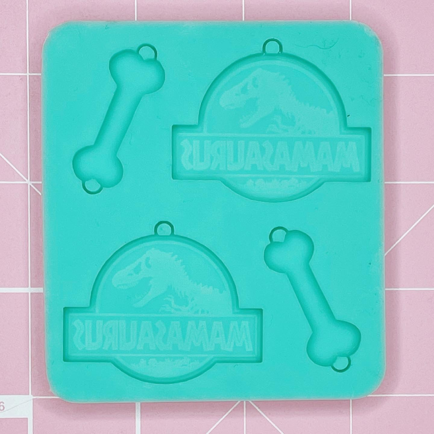 Earring Palette Mold: Mamasaurus / Bones Dangle Earrings - [Etched / Solid]