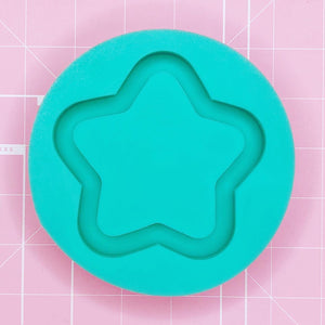 Round Mold - Chubbi Star Coaster (Backed) - Chala Atelier & Supplies