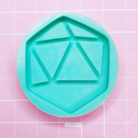 Large Mold - D20 Shaker Coaster (Backed) - Chala Atelier & Supplies