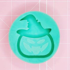 Medium Mold -  Jack O' Lantern w/ Witch Hat (Backed) - Chala Atelier & Supplies
