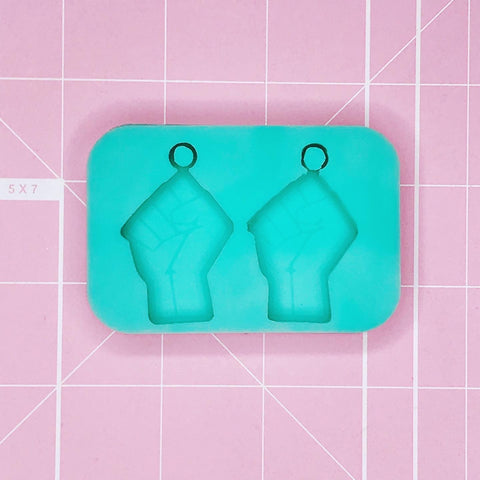 Earring Mold: BLM Fist Earrings (Solid)