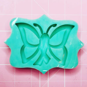 Medium Mold - Awareness Ribbon Butterfly Mold (Backed Shaker) - Chala Atelier & Supplies