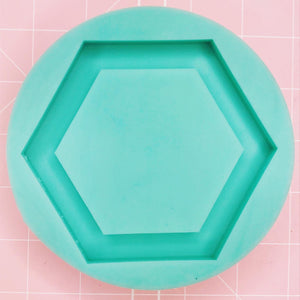 Coaster / Tray Mold -  Hexagon (Backed) - Chala Atelier & Supplies