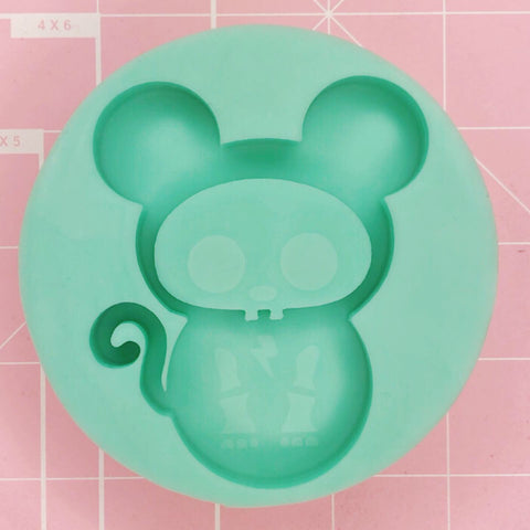 Round Mold -  Skelly Mouse (Backed Shaker) - Chala Atelier & Supplies