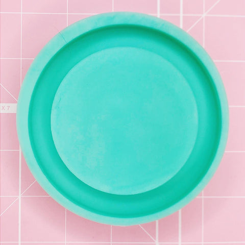 Coaster / Tray Mold -  Circle (Backed) - Chala Atelier & Supplies